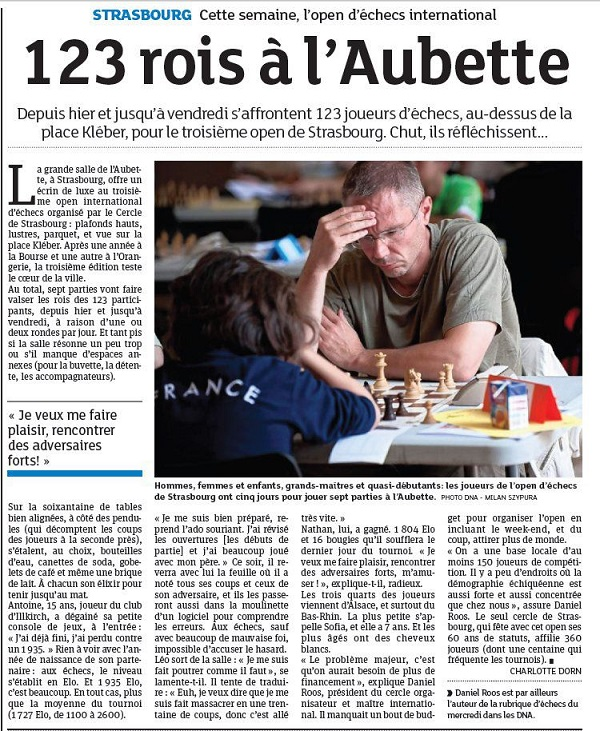 Article DNA Open à lAubette